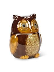 owl canisters for the kitchen cookie jars