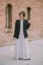 how to style a blazer and maxi dress ideas for fall