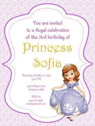 sofia the first birthday party invitations 1 00 each item 900