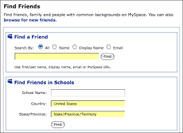 www find friends school can i search for myspace friends based on school ask dave