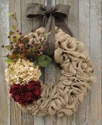 hydrangea wreath burlap wreath