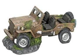 nobby jeep wreck aquarium ornaments 26 x 15 5 x 12 5 cm