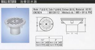 swimming pool accessories pool vacuum fitting and cover gutter