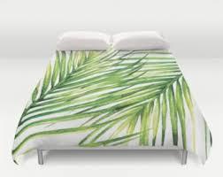 palm leaf duvet etsy