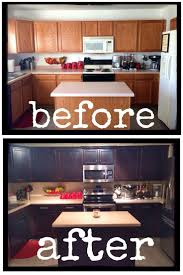 Flat Front Kitchen Cabinets Best 25 Dark Stained Cabinets Ideas On Pinterest How To