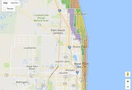 Palm Beach Florida Zip Code Map Hurricane Irma Evacuation Zones Procedures