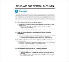 sermon outline template u2013 10 free sample example format
