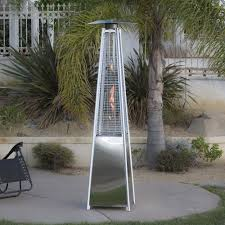 Flame Patio Heater The Real Flame Pyramid Patio Heater In Stainless Steel Or Black