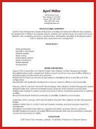 Management Analyst Resume Data Analyst Resume Good Resume Format
