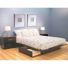 south shore infinity queen size platform bed with two drawers