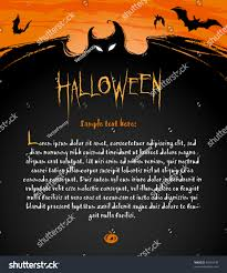 Halloween Backdrop Halloween Backdrop Composition Banners Labels Invitation Stock