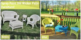 Spray Paint Wicker Patio Furniture - wacky wicker loving here