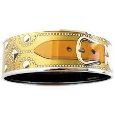 hermes bracelet images Hermes gold cdc printed enamel bracelet bangle collier de chien jpg