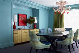 Blue Dining Room by Aqua Walls In Living Room Carameloffers