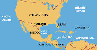 map usa central america maps of roatan island in the western caribbean area