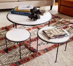 marble top nesting tables louise marble top nesting tables set of 3 pottery barn