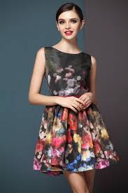 floral dresses looks like a lovely painting pretty multi neck