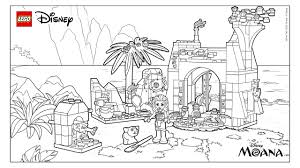 lego disney moana coloring pages getcoloringpages