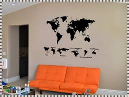 world map wall decal with pins home decorations ideas image of world map wall decal australia