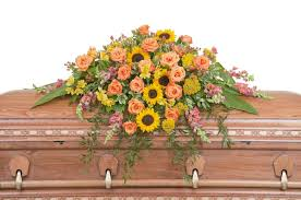 heaven u0027s sunset casket spray phoenix flower shop flower