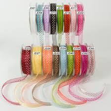 wholesale ribbon 3 8 inch sheer dots ribbon may arts wholesale ribbon