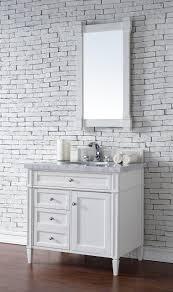 Contemporary Bathroom Vanities by Contemporary 36 Inch Single Bathroom Vanity White Finish No Top