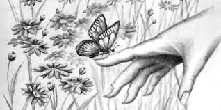 butterfly on finger luv2draw com