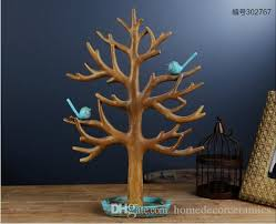 vintage artificial tree birds miniatures home decor ornaments