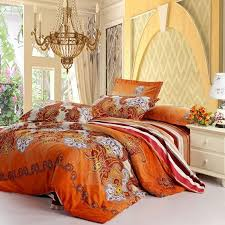 Purple And Orange Bedroom Rust Orange White And Purple Western Paisley Pop Print With Wide