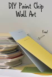 diy paint chip wall art greenthumbwhiteapron com