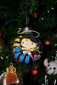 justice league ornament set wonder woman superman flash