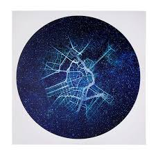 Constellations Map City Constellation Map City Star Print Uncommongoods