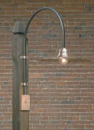 copper sign light outdoor gooseneck lights hammerworks