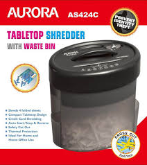 aurora as424c cross cut paper shredder compact and portable and
