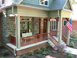 Arts And Crafts Style Home by Arts And Crafts Entry Porch With Large Post Brackets And Wood