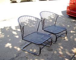 mesh wrought iron patio furniture vintage metal patio furniture etsy