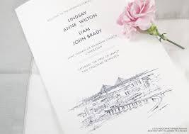 paper for wedding programs skyline wedding programs