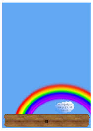 free printable rainbow stationery noah s ark rainbow links paper gifts for estefany