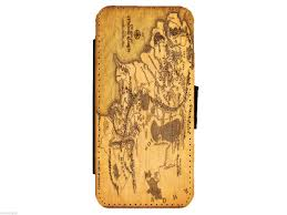 Harry Potter Map Harry Potter Wallet Style Flip Phone Case Cover Marauders Map Or