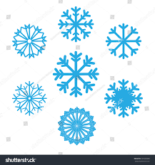 set snowflakes vector icons background winter stock vector