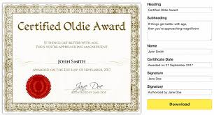 free printable certificatesfunny certificates template free
