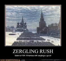 Zerg Rush Meme - zerg rush