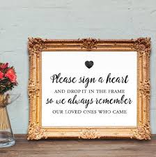 wedding guest book sign wedding guest book sign sign a heart and drop it in the