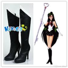 2017 kukucos anime sailor moon sailor pluto boots cosplay shoes