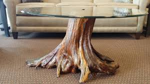 coffee tables simple driftwood base coffee table for living