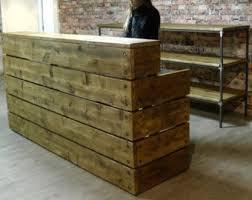 Custom Made Reception Desk Reclaimed Reception Desk Rustic Industrial Custom Made Chic