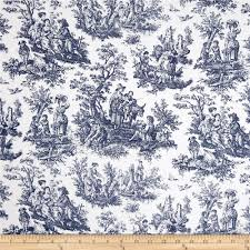 Blue Toile Curtains Waverly Rustic Toile Navy Discount Designer Fabric Fabric