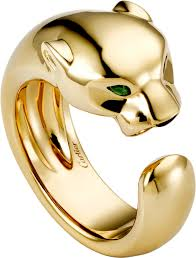 cartier rings gold images Crb4085900 panth re de cartier ring yellow gold onyx png