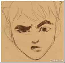 drawing a confused face without the confusion