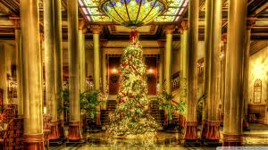 Hotel Hd Images by Christmas Driskill Hotel Lobby Texas Hd Desktop Wallpaper